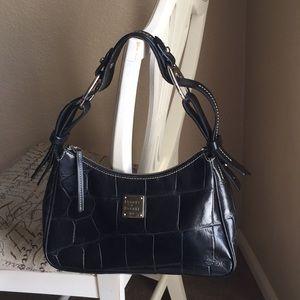 Dooney & Bourke bag. Black embossed leather.